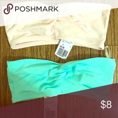 4 for $20 Pair of bandeau tops NWT from forever 21 mint green and light pink Forever 21 Intimates & Sleepwear Bandeaus