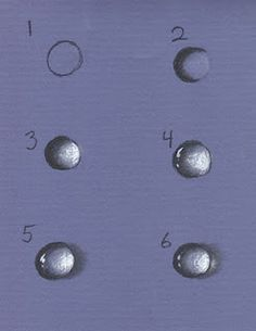 "Lesson on How to Draw or Paint a Water Drop | This is an Illustration of ""Perspective"" Giving a 2-D space the illusion of 3D all using shading/highlights. Amazing.                                                                                                                                                                                 More"
