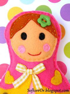 Felt Russian Dolls Magnolia