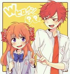 Sakura Chiyo and Mikoshiba Mikoto Of Gekkan Shoujo Nozaki-kun These two are adorable! Anime Watch, All Anime, Me Me Me Anime, Manga Anime, Anime Art, Otp, Monthly Girls' Nozaki Kun, Gekkan Shoujo Nozaki Kun, Another Anime