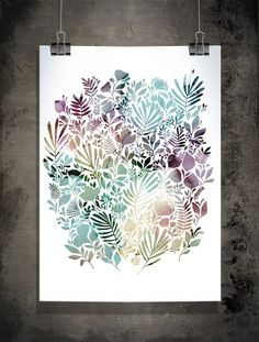 Meadow, pastel - Illustration