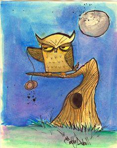 Yoyoing Owl by SpawnoftheED on DeviantArt