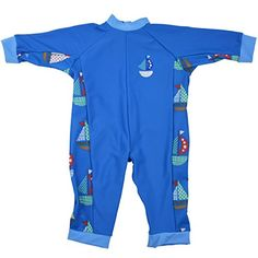 Splash About Kids' Uv All-in-one Sun Protection Suit - Set Sail 1-2 Years