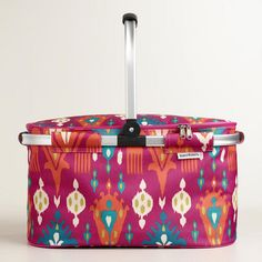One of my favorite discoveries at WorldMarket.com: Pink Aberdeen Insulated Collapsible Tote