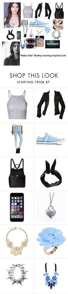 """Teen wolf inspired look #3"" by trust-kashmir ❤ liked on Polyvore featuring Glamorous, Balenciaga, Refuge, Converse, Dolce&Gabbana, Boohoo, Gemma Simone, Dettagli and P.A.R.O.S.H."
