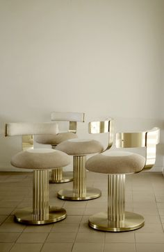 1970s brass chairs