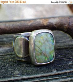 20% OFF Sale Green and yellow opal sterling silver par LisasLovlies