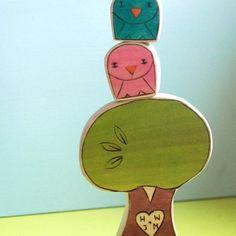 cut animal & tree blocks