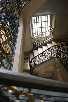 Palace of Versailles, private stairs in apartment of King Louie XV, Degré du Roi