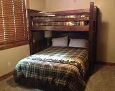Bunk Beds Twin over Queen with Trundle — Modern Twin Bedding