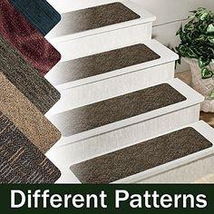 13 Step Indoor Outdoor Non Slip Stair Treads Step Rug Carpet Choose ...