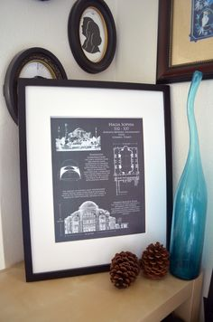 Architectural blueprint art print alcatraz by scarletblvd on etsy hagia sophia cathedral blueprint art history blueprint art cathedral plan architectural blueprints architectural art print xmas gift malvernweather Image collections