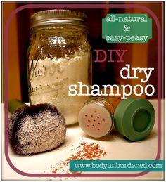 DIY all-natural dry shampoo