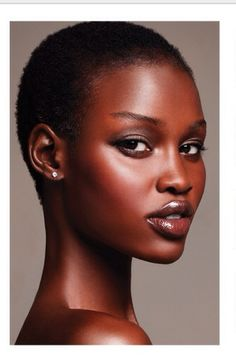 Gorgeous glowing skin in earthy tones - wedding makeup for black/African American women