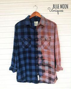 3d3a900bc44 LARGE - Flannel Shirt - Bleached - Vintage Washed Flannel - Oversized  Flannel - Distressed Flannel