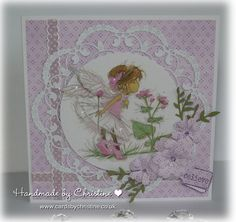 LOTV - Fairies Art Pad. Card by Christine Levison Links to home page of blog