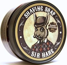 Old Fashioned Shaving Soap for Men By Sir Hare - Barbershop Fragrance - Tallow Shave Soap That Smells Great and Provides a Smooth…