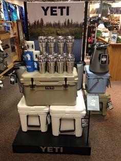 Finally back in stock! YETI Coolers 30 oz Ramblers...They keep your drink as cold as science allows! Also in stock are new YETI koozies, check them out for late summer floats and other adventures! #BuiltForTheWild