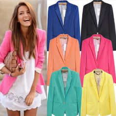 Cheap Blazers on Sale at Bargain Price, Buy Quality suit shadow, suit jacket sport coat, suits without shoulder pads from China suit shadow Suppliers at Aliexpress.com:1,women's front fly:one button 2,sleeve type:princess sleeve 3,Pattern Type:Solid, Patchwork 4,Collar:Notched 5,Material:Acetate