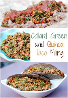 Super easy and nutritious Collard Green and Quinoa Taco Filling | Healthy Slow Cooking