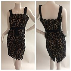 Milly Floral Lace A-line Dress. Size 4. Worn once, excellent condition. Glamdrobe's price: $125. (Retail: $370 +tax) #milly #lacedress #classic #chic #sexydress