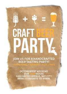 Image of Craft Beer Invitation (Octoberfest) Bild der Craft Beer Einladung (Oktoberfest) Beer Party Decorations, Beer Birthday Party, Beer Tasting Parties, Craft Beer Festival, Redneck Party, Drinking Games For Parties, Beer Wedding, Homebrew Recipes, Brew Pub