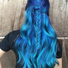"Looks Like We Were Ahead of the Curve on the ""Ocean Hair"" and ""Cobalt Roots"" Trend Fronts @thebeautysensei : 21 Bold AF Hair Colors To Try In 2016"