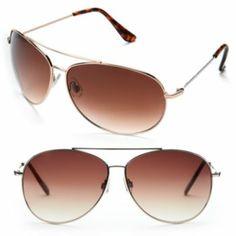 LC Lauren Conrad Carmel Aviator Sunglasses