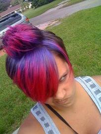 Special Effects Hair Dye Wildflower and Atomic pink