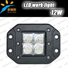 (36.55$)  Watch more here - http://aicx1.worlditems.win/all/product.php?id=2004220190 - Super bright 12W CREE chip LED Flush Mounting Work Light Spot beam for Off Road Auto ATV 4WD 4X4 Rear Lamp Bumper Fog Lamp IP68