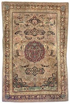 Mochtashem Kashan rug, Central Persia    204cm. x 140cm.(6ft.8in. x 4ft.7in.) I Christie's Sale 4941