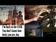 Beatles - Back in the USSR with lyrics (drum cover) - YouTube