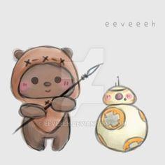 ewok sketch by eeveeeh on DeviantArt - Star Wars Ewok - Ideas of Star Wars Ewok - ewok sketch by eeveeeh Star Wars Fan Art, Star Wars Love, Star War 3, Ewok, Chewbacca, Cute Disney Drawings, Cute Drawings, Dolly Parton, Star Wars Drawings