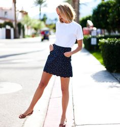 Scallop Skirt - Navy Dot simple and i love it