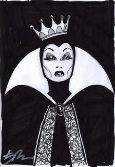 The Evil Queen from Snow White by Kalman Andrasofszky *