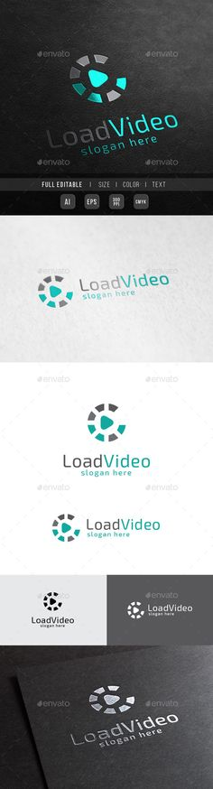 Load Music Digital Play - Logo Design Template Vector #logotype Download it here: http://graphicriver.net/item/load-music-digital-play/10362675?s_rank=331?ref=nesto