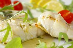 """Easy Halibut Fillets with Herb Butter from Food.com:   I used chopped parsley and it was lovely. Adapted from James Peterson's """"Fish & Seafood"""""""