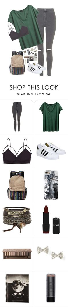 """""""// I'm half a heart without you \\"""" by piercetheeden-loves-5sos ❤ liked on Polyvore featuring Topshop, H&M, Humble Chic, adidas, ...Lost, Chicnova Fashion, Casetify, BKE, NYX and Urban Decay"""