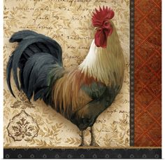 Rooster Kitchen Decor, Kitchen Decor Themes, Kitchen Ideas, Chicken Painting, Chicken Art, Frames On Wall, Framed Wall Art, Framed Prints, Rooster Art