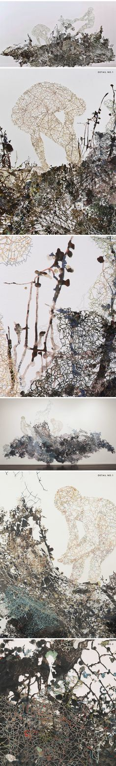 mixed media/paper-cutting installations by fidencio fifield-perez