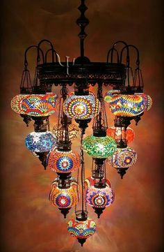 Arabian lights in chandelier