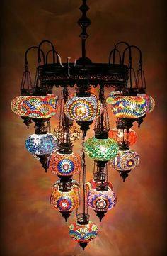 Arabian lights in chandelier