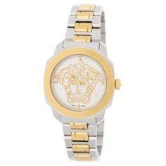 Women's Dylos Two-Tone Bracelet Watch