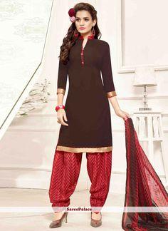 f0c756448 10 Best Magnetize Printed Pure Crepe Patiala Salwar Suit  MyShopMart ...