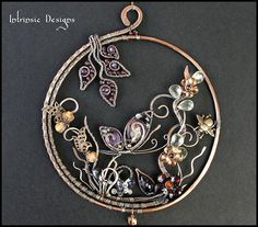 FLUTTERBY...  Wire Wrapped Multi Gemstone and Crystal Butterfly Garden Suncatcher AU $220