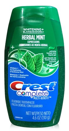 Crest Complete Fluoride Whitening Toothpaste Herbal Mint Liquid Gel 4.6oz  #buythecase