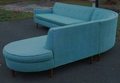 {mid century sectional sofa} first I'd need a room big enough to fit this beauty! Lol.