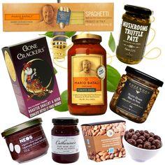 Healthy Gourmet Gifts - Gourmet Pasta Festa, $104.00 (http://www.healthygourmetgifts.com/gourmet-italian-pasta-dinner-natural-organic-gift-basket/)
