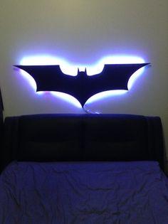 24 best digitalwalldesign images on pinterest art children art items similar to dark knight light batman led wall lamp superhero nerds geeks kids decoration batcave mancave on etsy aloadofball Images