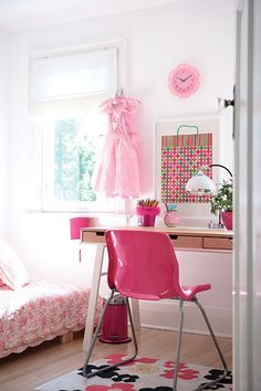 Pink girls bedroom.